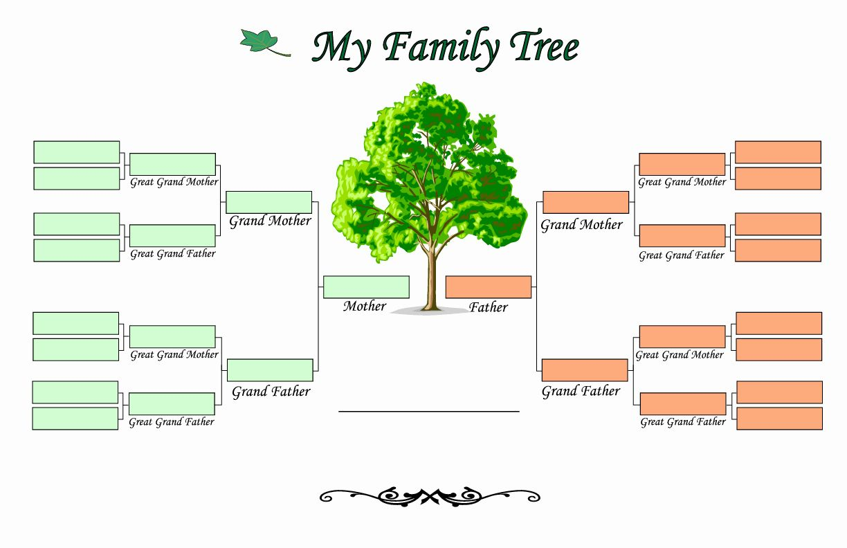 Download Family Tree Template 6 Free Family Tree Template Family Tree Printable Blank Family Tree