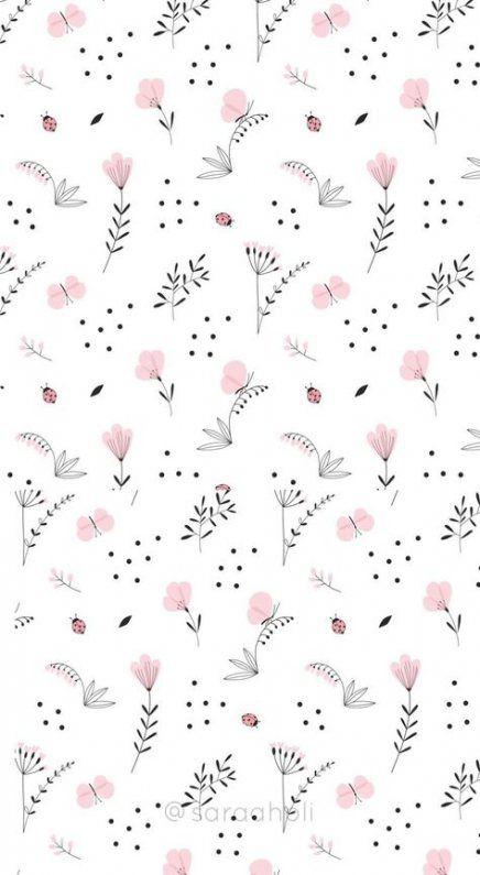 Trendy Flowers Print Simple Ideas Flower Wallpaper Plant Wallpaper Pattern Wallpaper