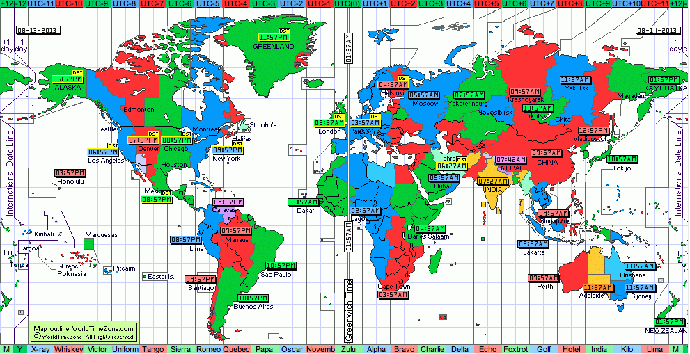 World Time Zone Clickable Map Shows The Time In All Parts Of The World Where Many Ells Were Born And Still Have Family A Great Tool For Teaching Time Zones G