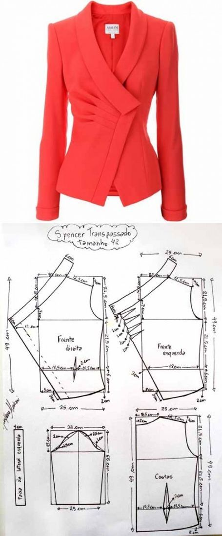 Jacket pattern from Armani | the Mistress | Costura general ...