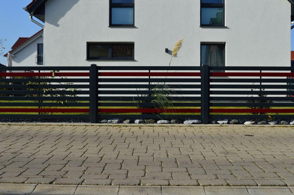 Der moderne Zaun \