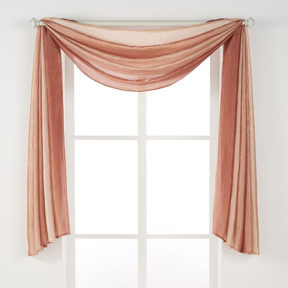 Achim 1 Panel Ombre Window Scarf 144