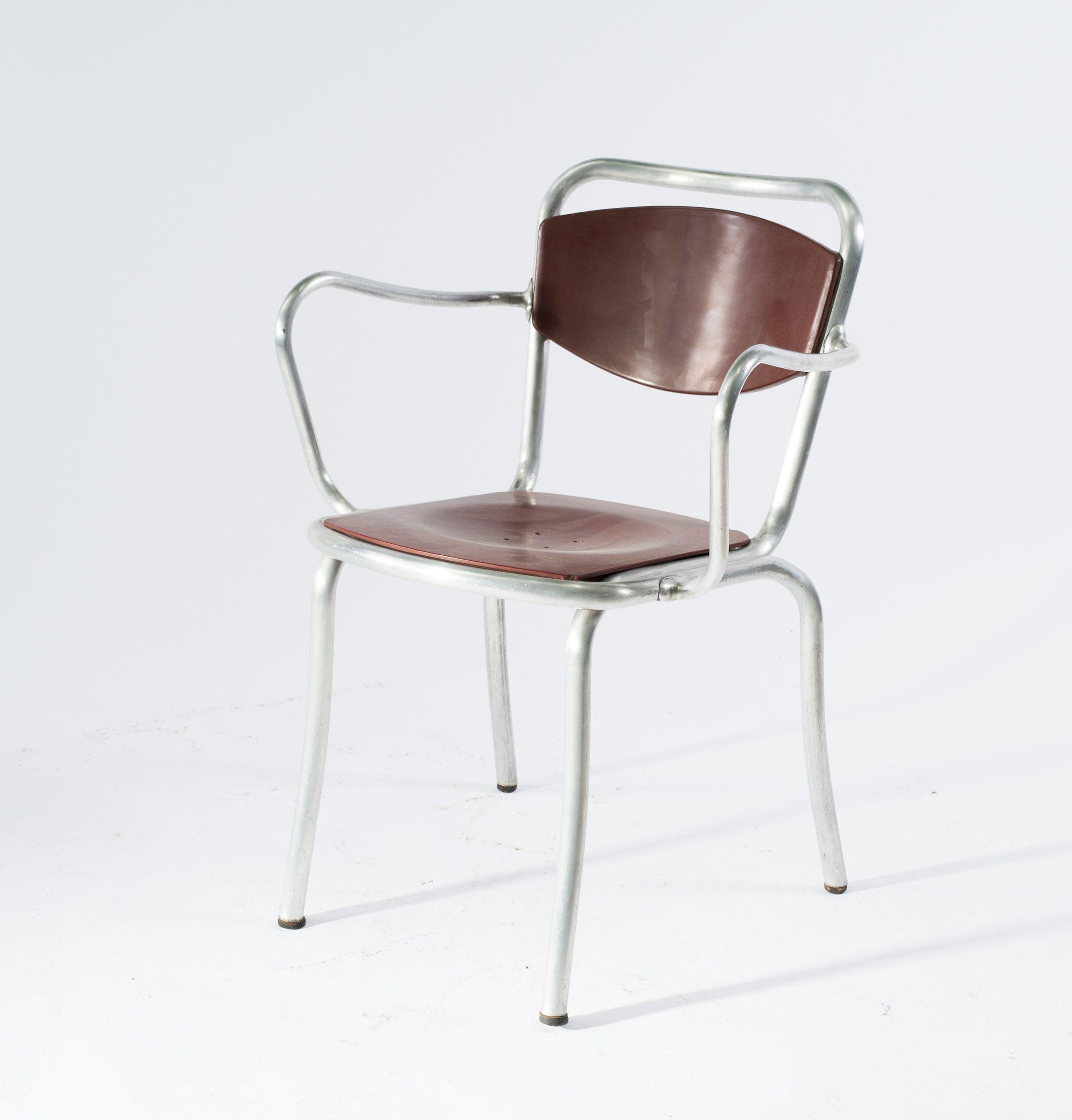 Gastone Rinaldi B236 Tubular Aluminum Chair for Rima 1951