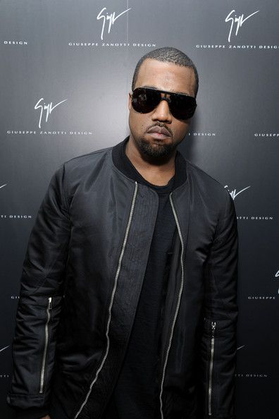 Kanye West wearing a Rick Owens turbo flight bomber jacket ...