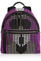 Fendi|Karlito leather-trimmed studded canvas backpack|NET-A-PORTER.COM