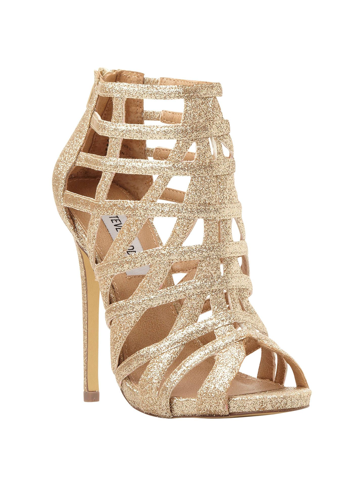 5a322426ac9 Sparkly gold Marquee sandals (Steve Madden)