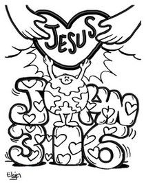 Free coloring page to relate Valentines Day back to Gods love