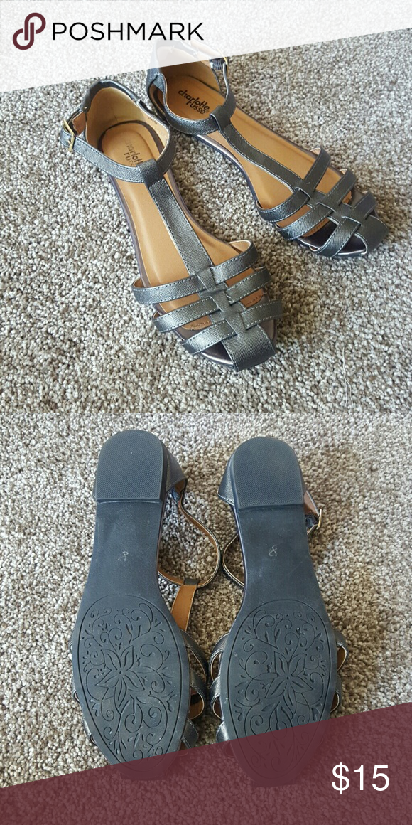 Charlotte Russe sandals Size 8 like new condition Charlotte Russe Shoes Sandals