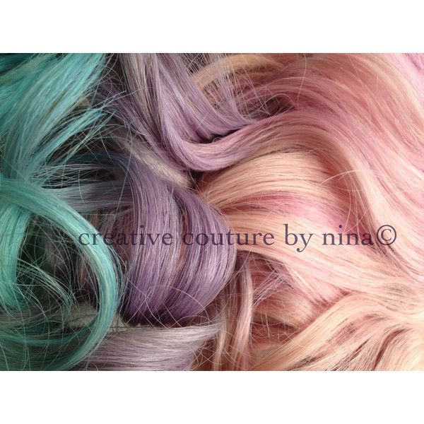 Pastel Hair Extensions Pink Purple And Blue Ombre Complete Set 7