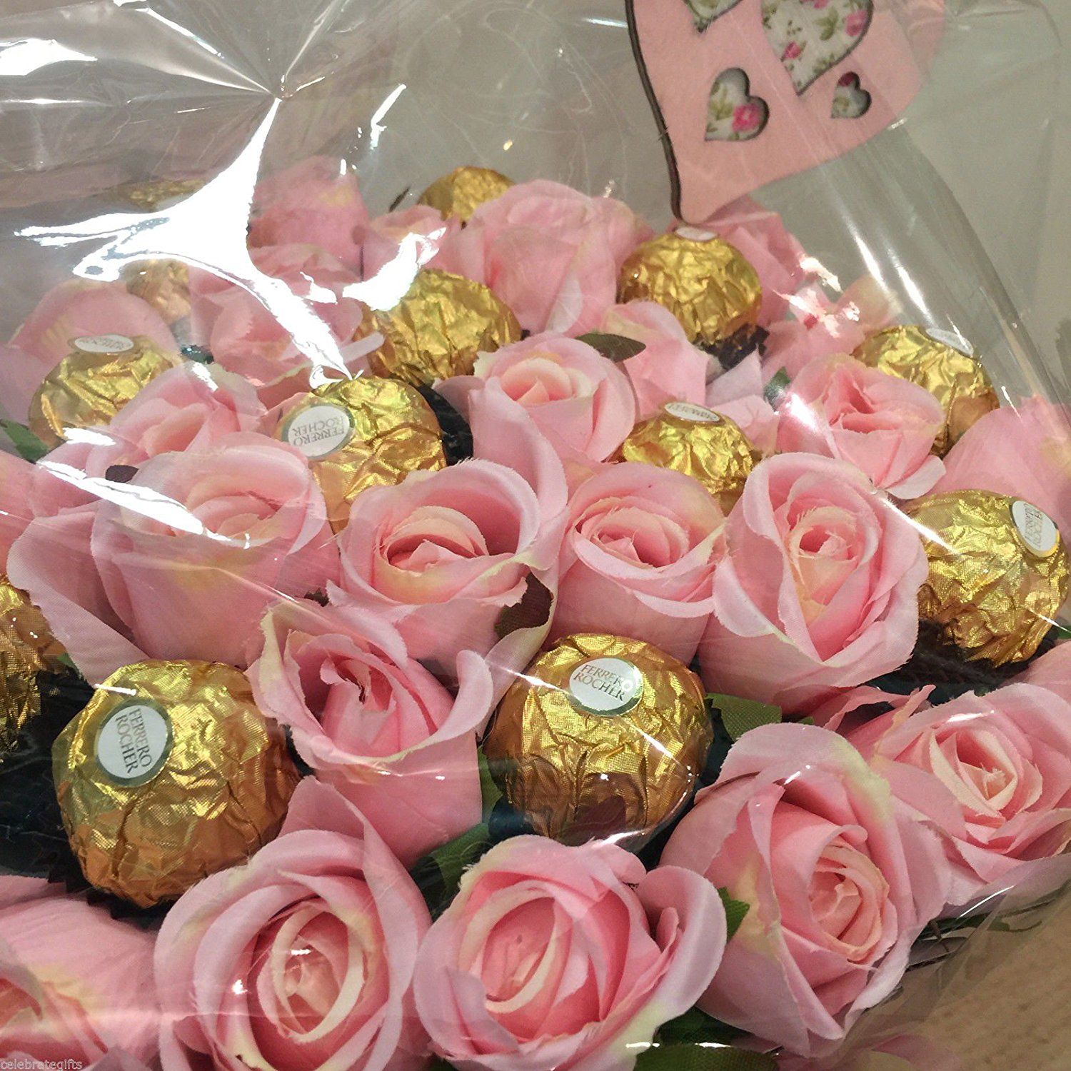 Luxury silk pink roses and ferrero rocher chocolate bouquet amazon luxury silk pink roses and ferrero rocher chocolate bouquet amazon izmirmasajfo