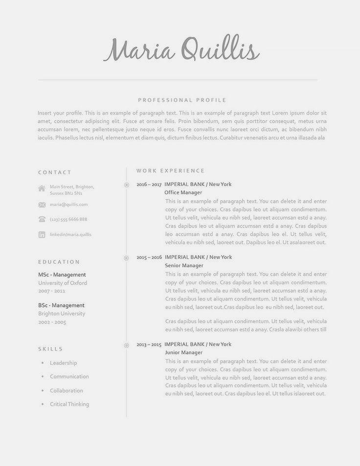 Classic Resume Template 120160