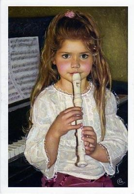 """The Enchanted Flute"" -- by Chantal Poulin, Canadian"