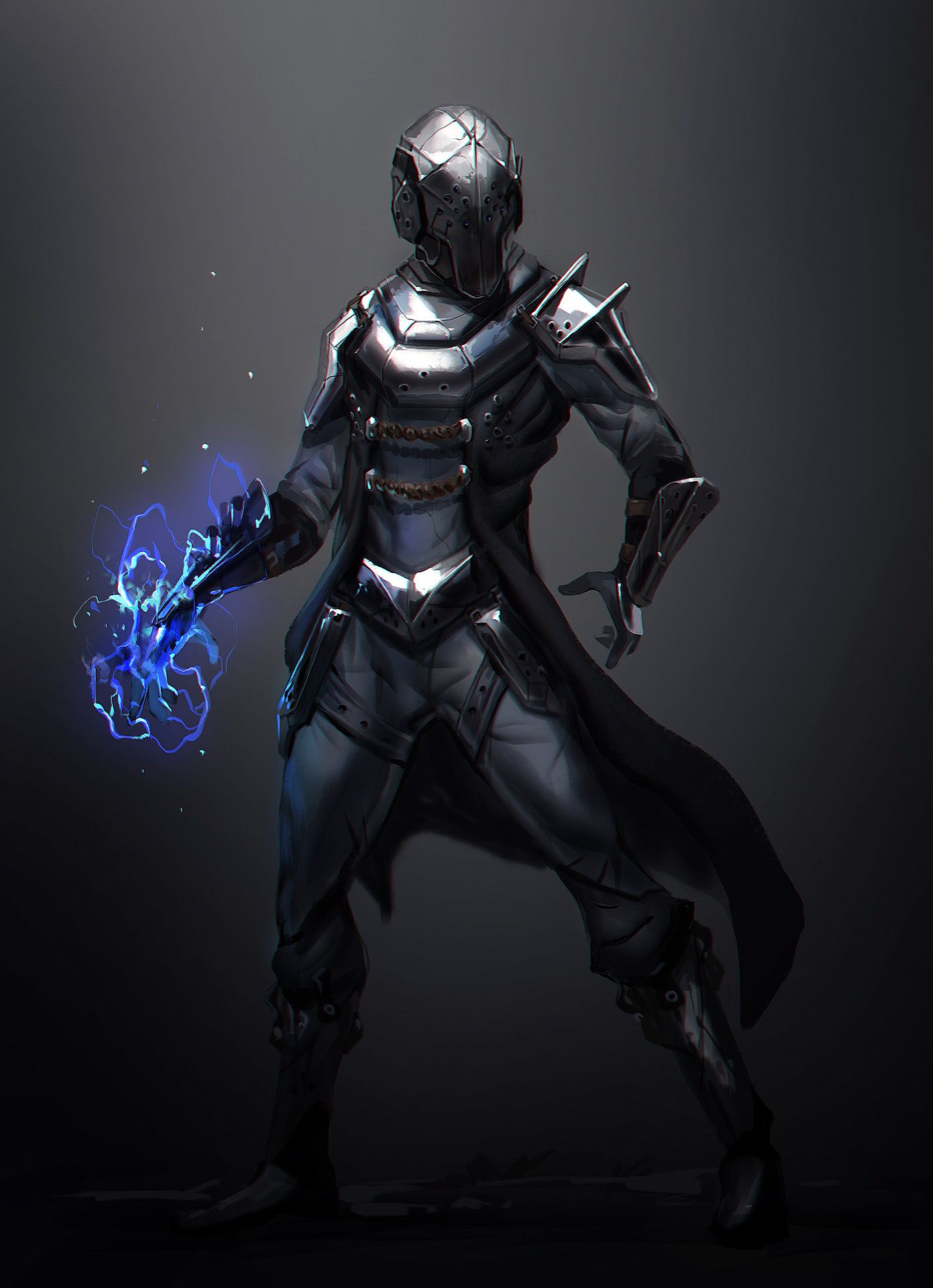 Armored Mage Concept Art