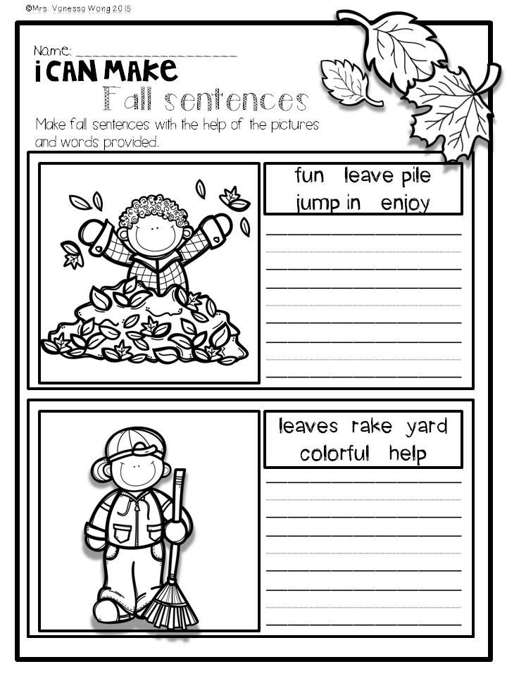 Fall Activities For Math And Literacy No Prep Printables