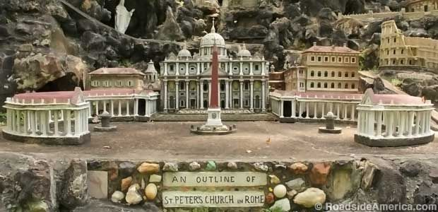 Vatican City in miniature. Ava Maria Grotto, Cullman Al.
