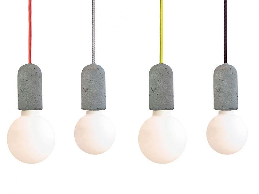 nud lampe mit beton fassung deckenlampe sofort lieferbar neue heimat pinterest. Black Bedroom Furniture Sets. Home Design Ideas