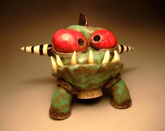 james de rosso monster pottery ceramics clay