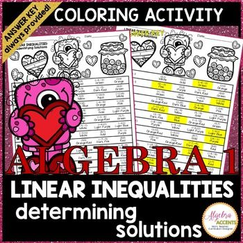 Valentines Day Algebra Determining Solutions To Linear Inequalities