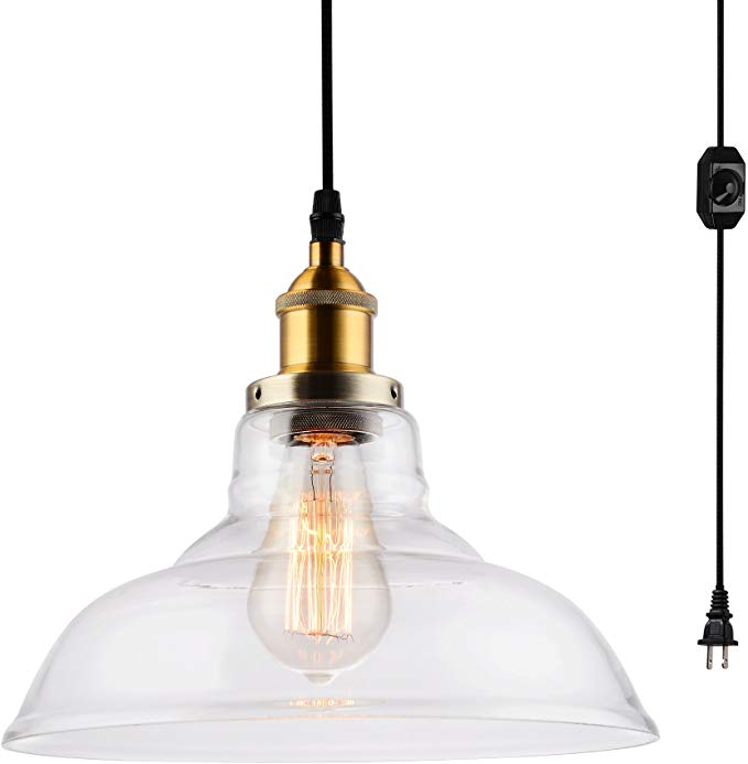Hmvpl Industrial Plug In Edison Pendant Light Rustic Mini Swag Hanging Lighting Fixture With Clear G Hanging Light Fixtures Pendant Light Edison Pendant Light