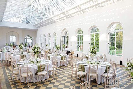 The Orangery At Wrest Park Set Up For A Wedding Reception