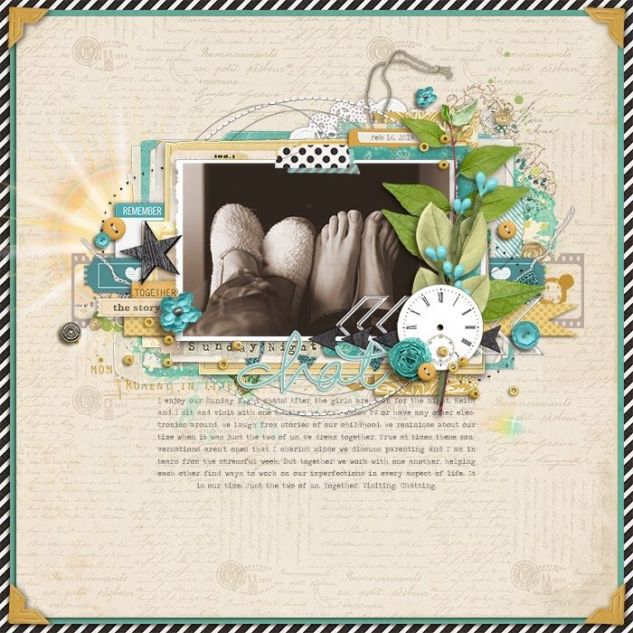 love the feet in this scrapbook page by Kim at
