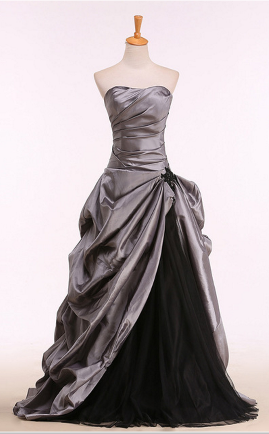 Vintage and classic evening gowns, grey and black | CLOTHES ...