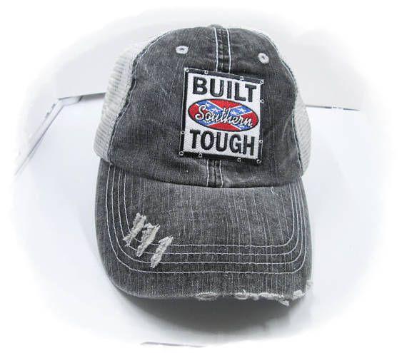 Built Southern Tough Trucker Hat Distressed Baseball cap  e9a8c3243c1