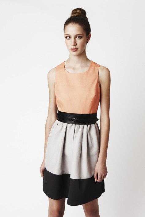 Eve Dress polverosi arancio corpetto di di threelittleducksaust