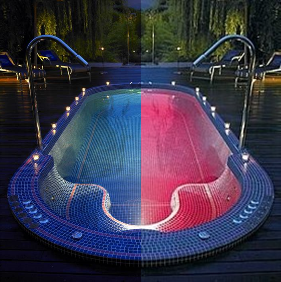 Dise o y construccion de albercas iluminacion leds - Leds para piscinas ...