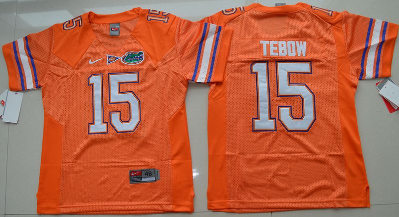 Gators #15 Tim Tebow Orange College Football Youth NCAA Jersey