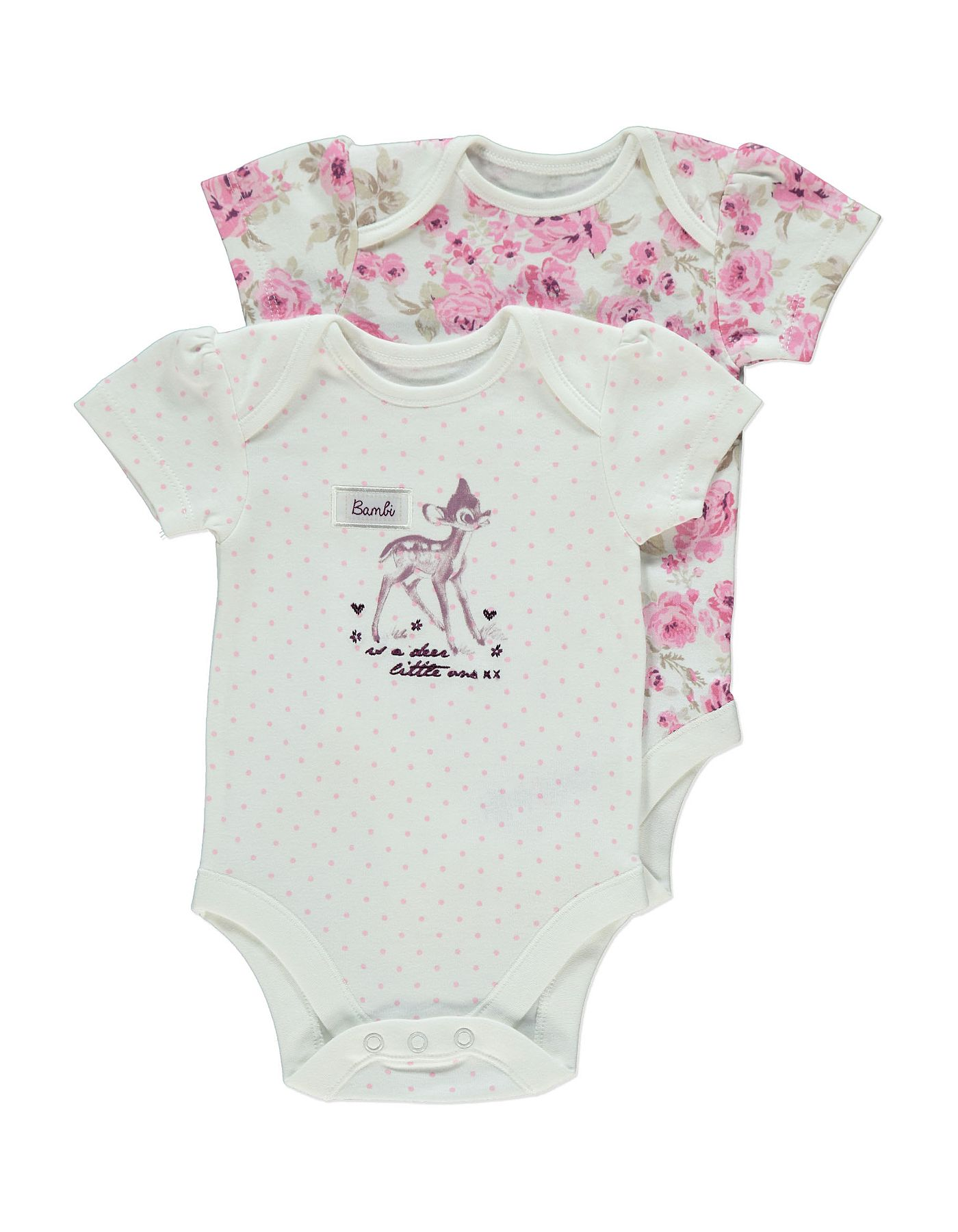 2a71a8ee51e2 2 Pack Bambi Bodysuits