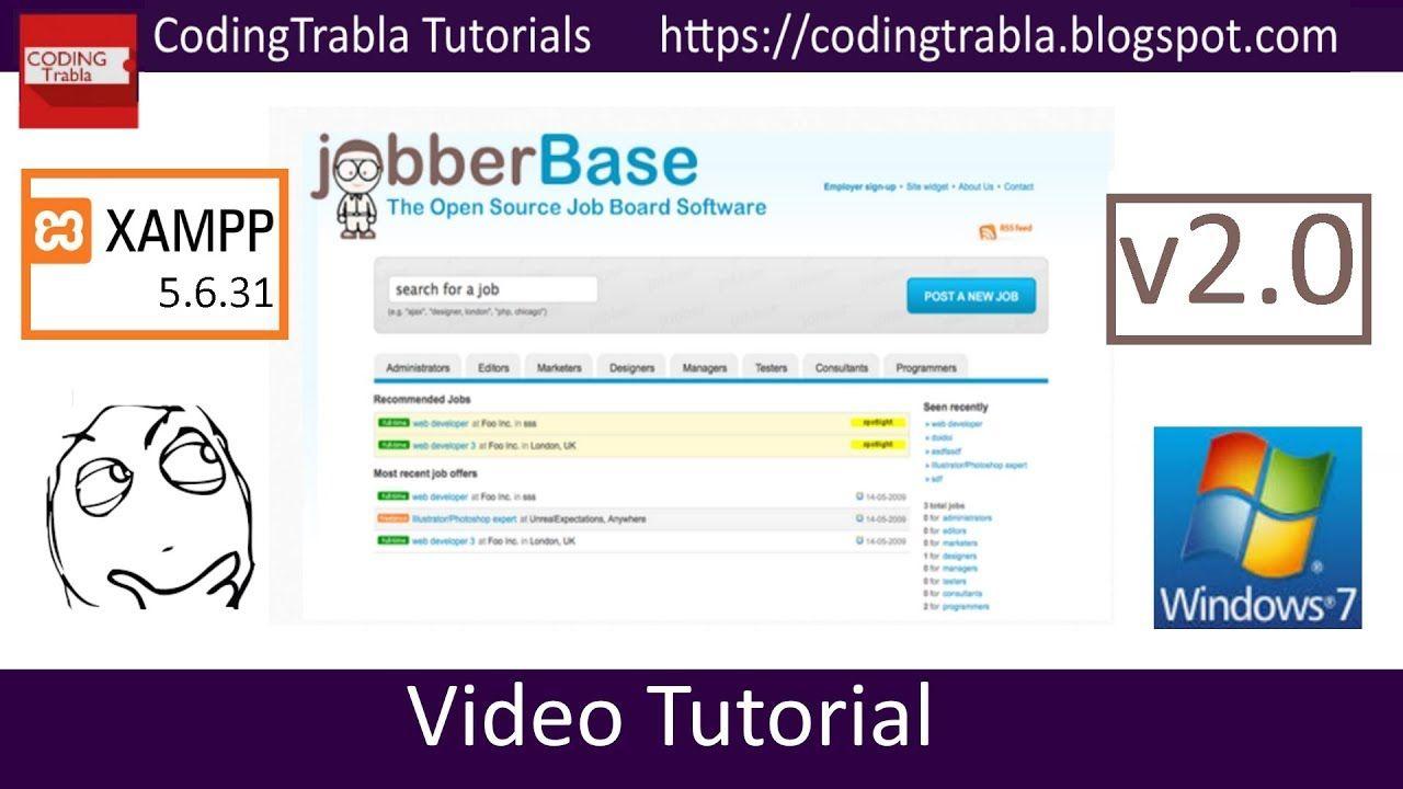 Install Jobberbase 2.0 on Win7 localhost XAMPP 5.6.31
