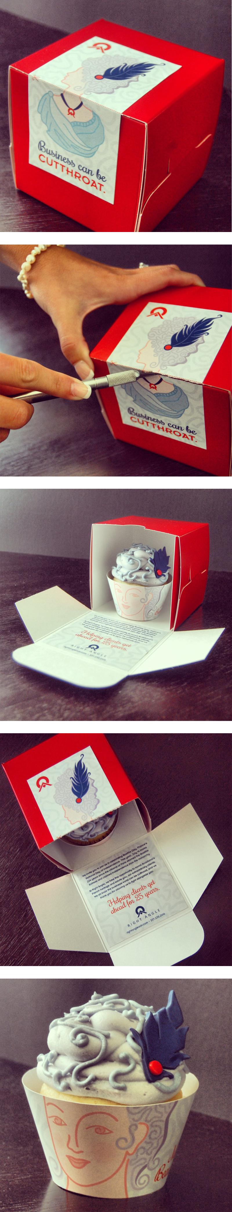 Right Angle Advertising Bastille Day Cupcake Www Rightangleadv Com Marie Antoinette Franc Creative Packaging Branding Design France National Day