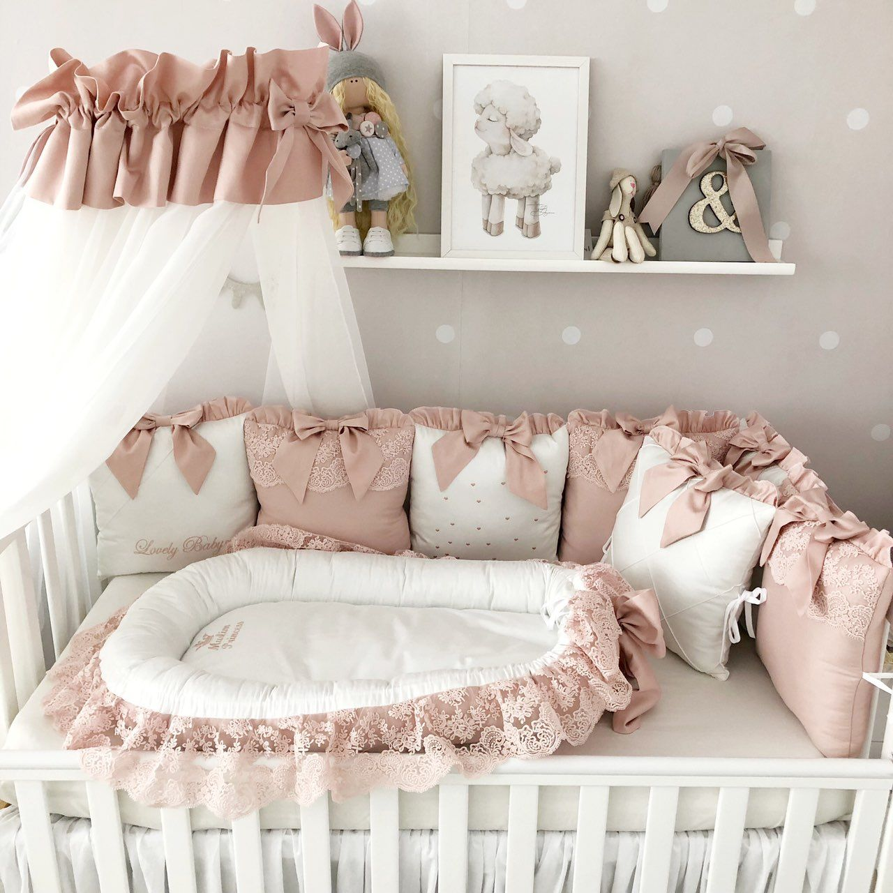baby girl crib bedding set Crib Bedding Set Baby bumper and crib set Baby Crib Bumper Crib bumber pads with crib sheet
