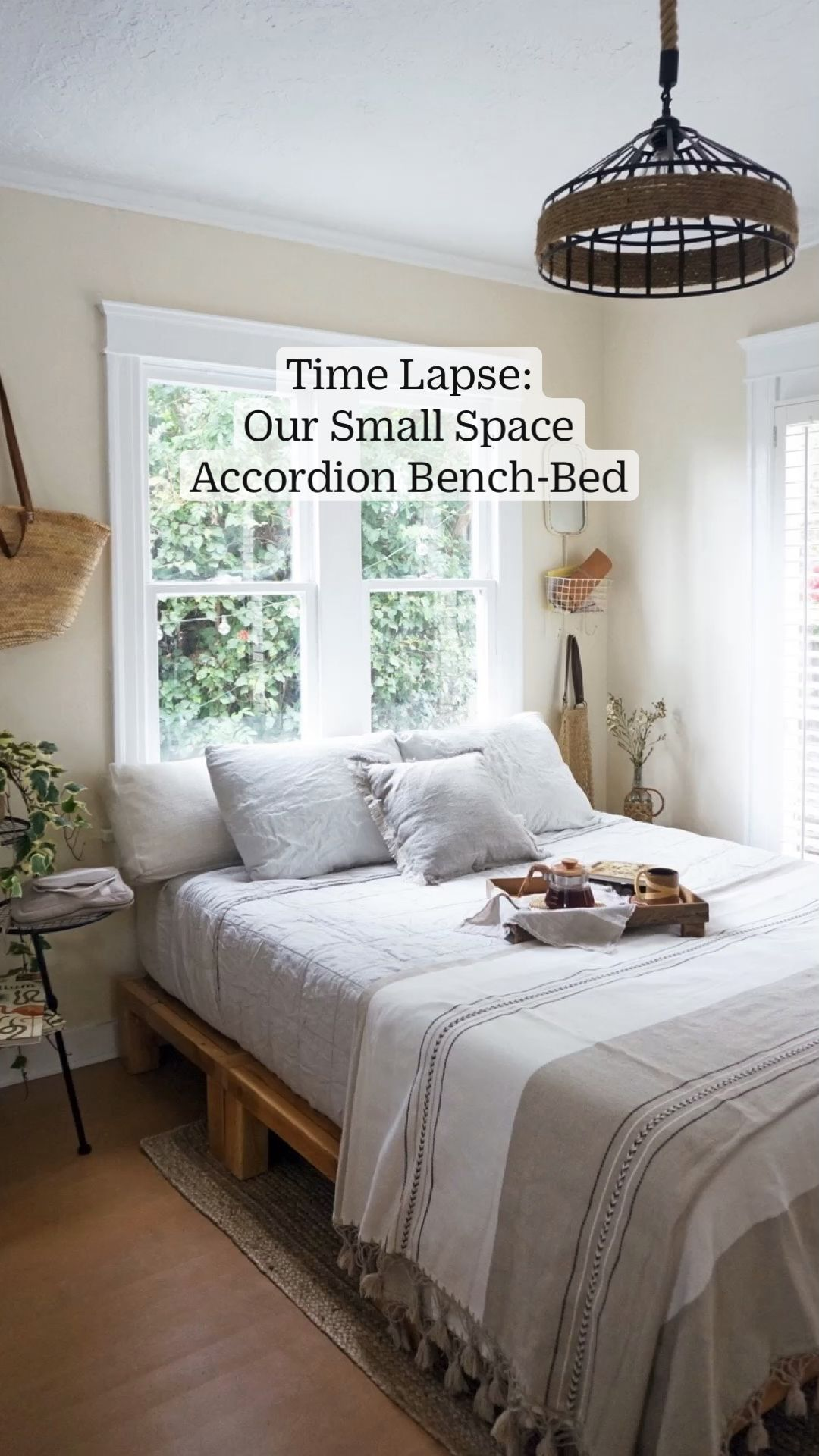 Time Lapse: Our Small Space Accordion Bench-Bed