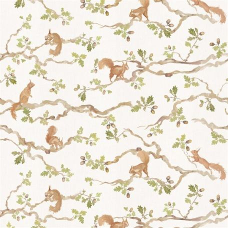 for upholstery deco and clothes Woodland creatures linen canvas fabric