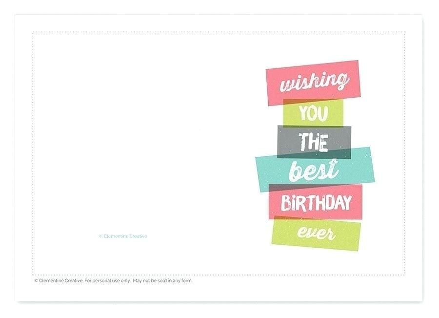 Printable Birthday Cards For Men In Folding Card Template Foldable