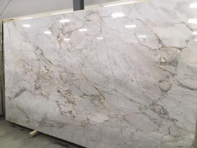 The Beautiful Lines Of Matarazzo Classic Quartzite Seen In Slab Form Here At Boston