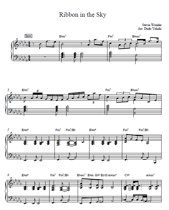 RIBBON IN THE SKY CHORDS by Stevie Wonder @ Ultimate ...