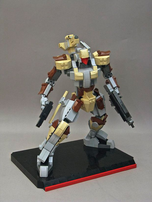 mybuild 3d printed lego mecha robot frame by hero design studio 5
