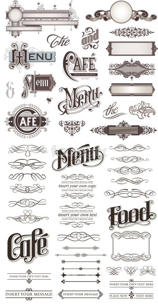 Lace Pattern Design Vector Lettering Design Lettering Vintage Typography