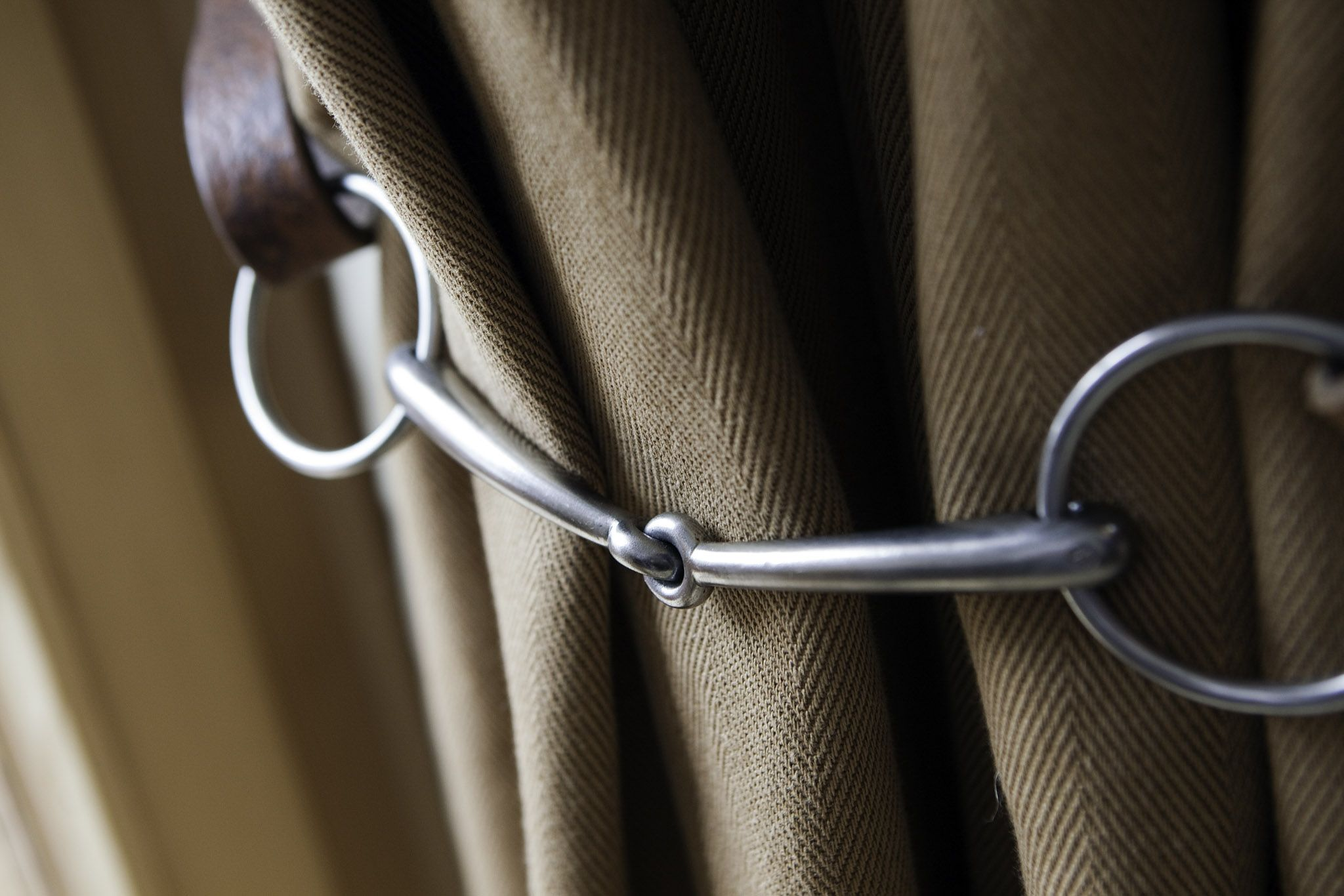 B Bespoke Bridle Curtain Tie Back Made To Measure Curtains Curtain Tie Backs Curtain Ties