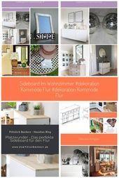 #Dekoration #flur #Kommode #Sideboard #Wohnzimmer Sideboard im Wohnzimmer ,  #Dekoration #Flu…
