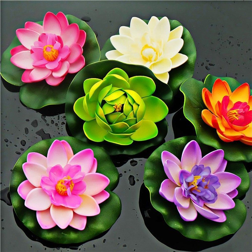 Plastic Lotus Decoration Water Lily Real Artificial Lotus Artificial