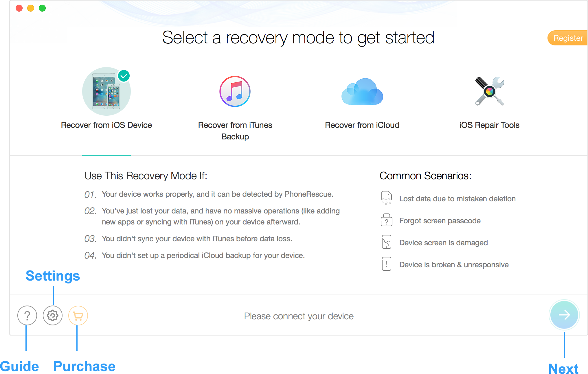 Imobie Phonerescue Restore 25 Types Of Lost Iphone Data And Fix