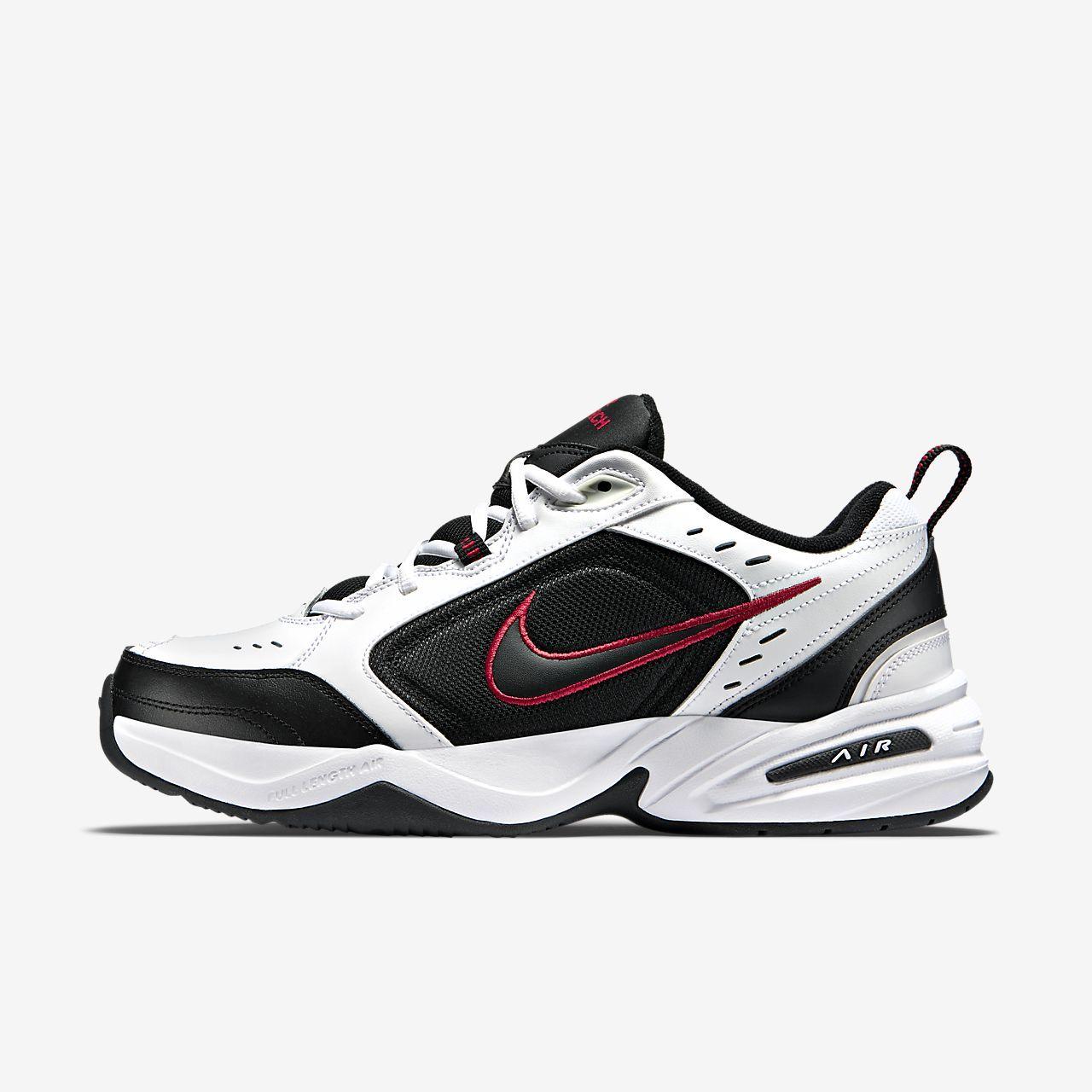 Mens Nike Air Monarch IV X Wide White Running Shoes | KAUX