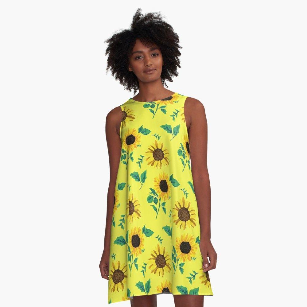 """Sonnenblumen Sommer Frühling"""" A-Linien Kleid von Nivox  Redbubble"""