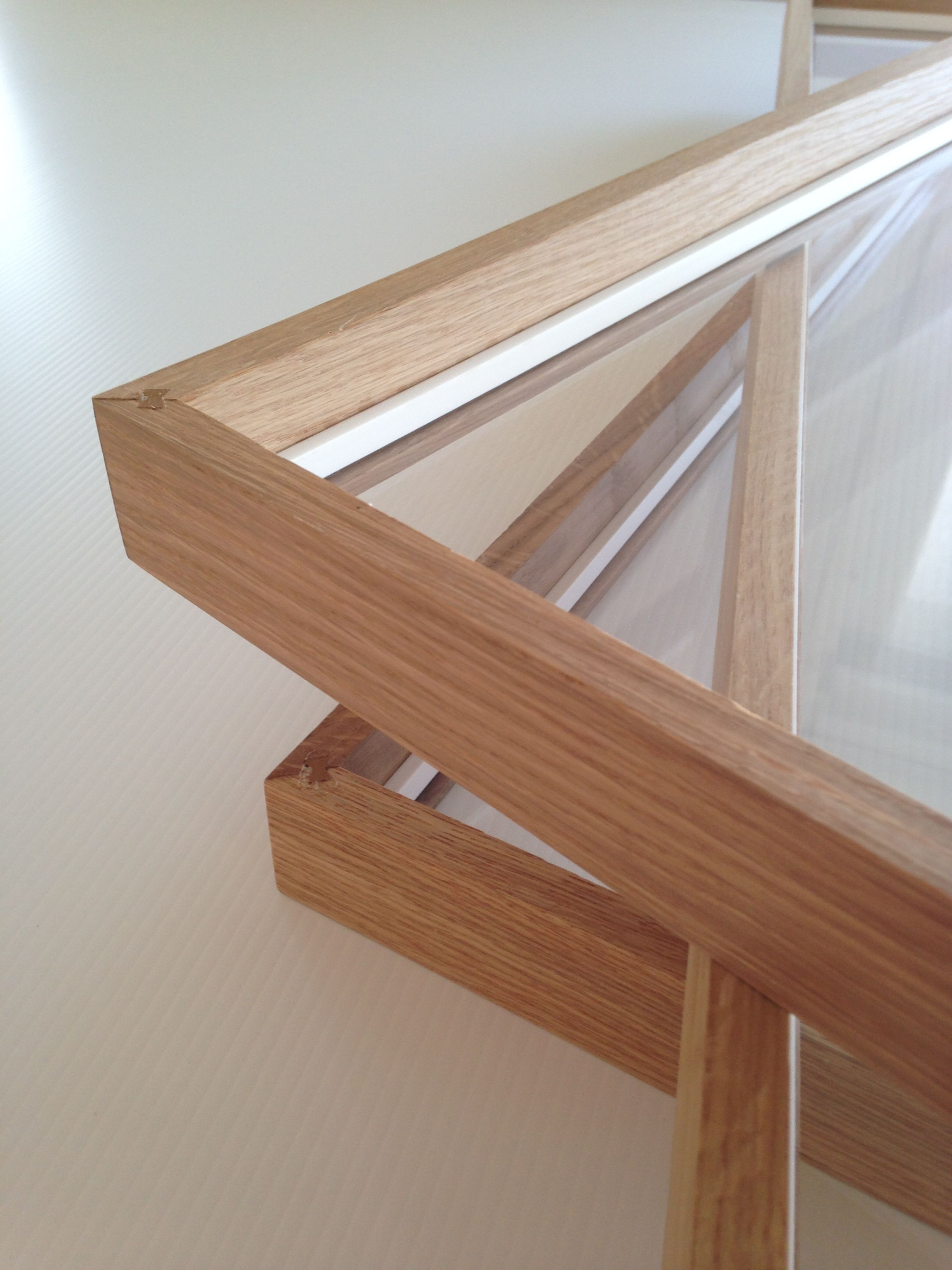 American oak frames with spacers in place ready to box frame artwork ...