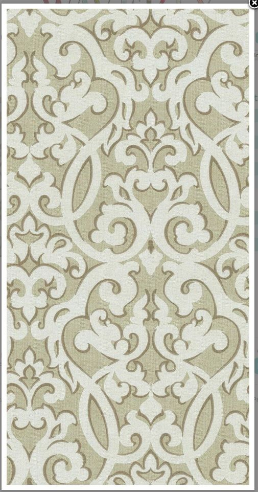 Waverly Evening Scroll - Gray - 89% cotton 11% Rayon - Gifts from Nature Collection