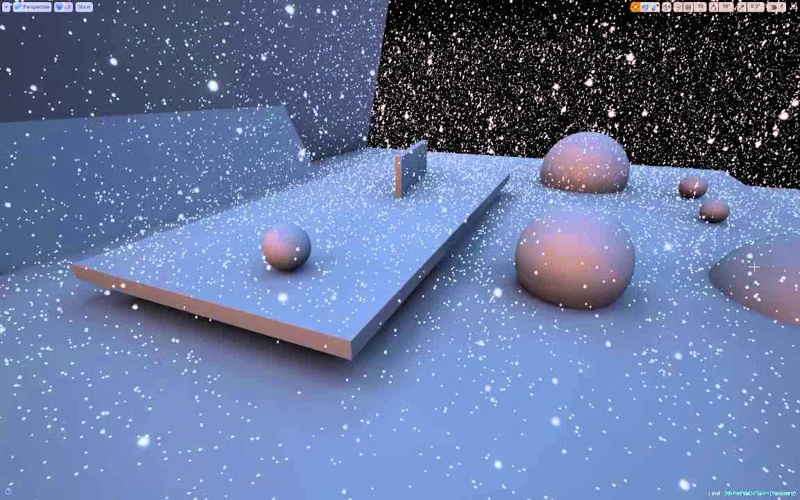 Snow - Full scene GPU particle collision with signed